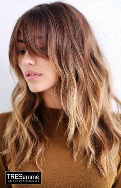 Balayage Messy Hair Look – Peinado Cerquillo Ondas Naturales #TRESemmé