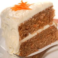 This easy carrot cake recipe makes a double layer 9-inch cake that is moist and delicious and is filled and frosted with cream cheese frosting.. Easy Carrot Cake Recipe from Grandmothers Kitchen.