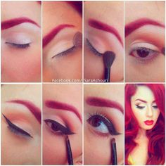 Smokey pin up makeup