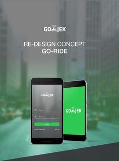 Re-Design Concept Go-Jek App (Go-Ride Service) on Behance Go Rider, Mobile Design, App Development, Behance, Concept, Mobile Ui, Mood, Behavior