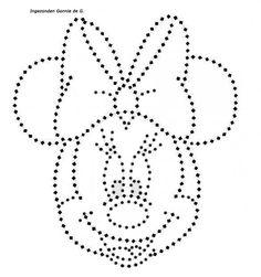 Minnie mouse. Stippelpatronen. Glittermotieven. Hotfix