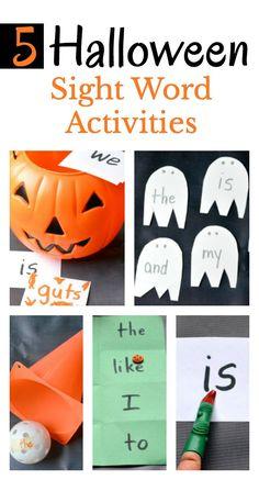 16006 best after school activities adventures images on pinterest 5 easy to prep halloween sight word activities fandeluxe Gallery
