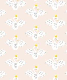 フランス発!とっても可愛いおとぎばなしに出てくるような白鳥をモチーフにしたレトロデザインの壁紙です。糊なしの仕様なので、お好みのサイズにカットしてフレームや家具・BOXに貼り付けてオリジナルアイテムのデコレーションにも最適です。