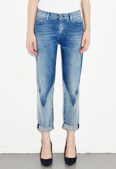 Phoebe Slim Jean - Slim boyfriend leg - Triangle Wash - MiH Jeans