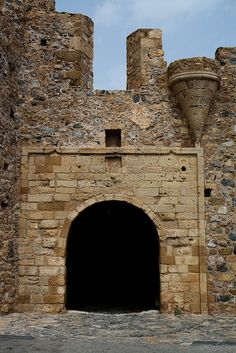 monemvasia, Greece - gate by Macaroons, via Flickr