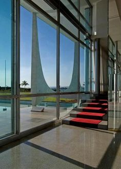 Interior of the Presidential Palace, Brasilia designed by Oscar Niemeyer