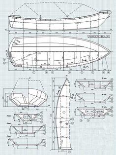 Общий вид, теоретический и конструкционные чертежи лодки «Бриз-42»