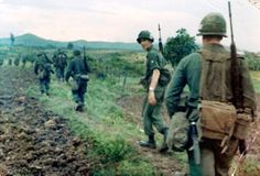Soldiers of the 70th Engineer Battalion on patrol, 1967.