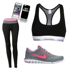 """Workout"" by laurenmaetaylor on Polyvore featuring LE3NO, Calvin Klein Underwear and NIKE"