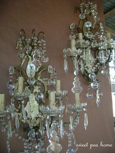 Crystal chandelier sconces