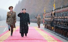 North Korean leader Kim Jong-un inspects the Ministry of the People's Armed Forces in Pyongyang