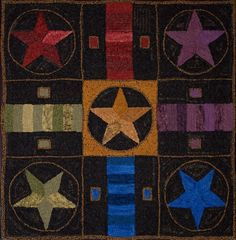 Hooked Game Board Rug -  Polly - this is gorgeous.