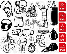 Boxing Gloves Drawing, Boxing Gloves Tattoo, Boxing Tattoos, Silhouette Vinyl, Tattoo Stencils, Box Logo, Kickboxing, Designs To Draw, Tattoos For Guys