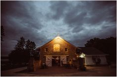 stormy night at Mayowood Stone Barn wedding | Photo: Brian Bossany