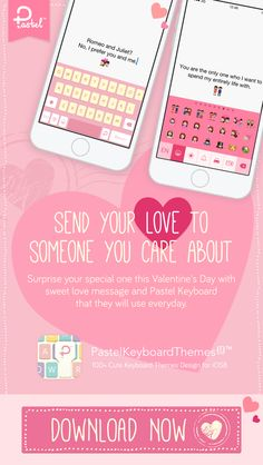 Send your love to someone you care about with Pastel Keyboard that they'll use everyday. There are over 100+ cute keyboard themes design in one app, custom keyboard for iOS 8.