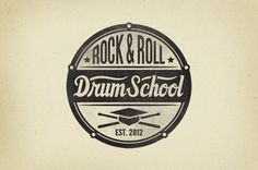 ROCK AND ROLL DRUM SCHOOL by Marek Mundok, via Behance