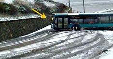 Bus driver easily gets up a snowy hill as car drivers struggle Bus Driver, Car And Driver, Orchestra, Britain, Uni, Vehicles, Cars, Create, Autos