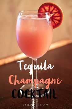Blood orange , #champagne, and #tequila combine to make this tasty #cocktail a dream come true #cocktailrecipes