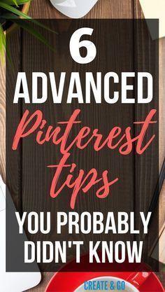 Advanced Pinterest Tips   Pinterest Marketing Tips   Get Blog Traffic   http://createandgo.co/advanced-pinterest-tips/