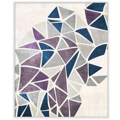 Ptm Images Burst of Purple Triangles Wall Art ($144) ❤ liked on Polyvore featuring home, home decor, wall art, backgrounds, art, fillers, multi, purple home decor, purple home accessories and purple wall art