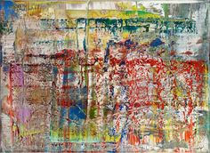 'Abstract Painting' (1990) was made by adding multiple layers of oil paint and treating the surface with a squeegee.
