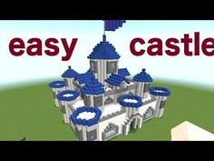MINECRAFT : HOW TO BUILD A CASTLE part 1/2 [minecraft easy castle tutorial] - YouTube