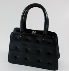 tufted patent leather purse