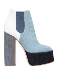 Laurence Dacade | Blue 150mm Laurence Patchwork Denim Boots | Lyst