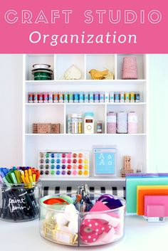 "It's the little things that make a workspace or studio your ""happy place."" We have everything you need to Organize Your Craft Studio 