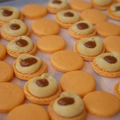 Our Salted caramel macarons - always popular! Pre-order your Macarons by texting 0498 844 245 or sending us a message here on Facebook. 😊😊… Salted Caramel Macaron, Texting, Macarons, Popular, Cookies, Facebook, Desserts, Food, Text Messages