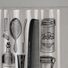 A masculin shower curtain