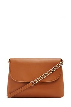 Faux Leather Chain Crossbody