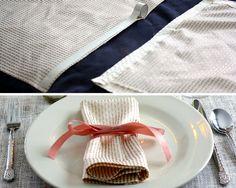 No-sew napkins for a Valentines dinner | Christmas Tree Market Blog