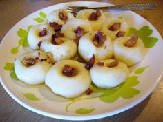 Kluski śląskie, traditional dish in Silesia district - boil balls made of potatoes dough and flour often eaten with meat or mushroom gravy