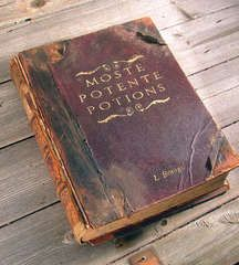 """""""I recently found a huge collection of ruined old books at the local dump and immediately thought of Harry Potter and the Hogwarts library. This is a tutorial to show how I converted these old encyclopedias into Hogwarts style spellbooks."""" So neat! Deco Harry Potter, Harry Potter Style, Theme Harry Potter, Harry Potter Aesthetic, Harry Potter Books, Harry Potter Merchandise, Slytherin Aesthetic, Ravenclaw, Old Encyclopedias"""