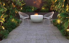 Tiles and floor tiles in your garden Outdoor Garden Furniture, Outdoor Rooms, Outdoor Tables, Outdoor Gardens, Outdoor Living, Outdoor Decor, Garden Paving, Garden Tiles, Garden Floor