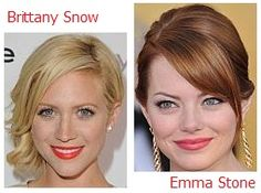 Clear Spring celebrities - Brittany Snow and Emma Stone (30 something urban girl)