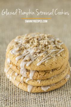 Samain:  #Glazed #Pumpkin #Streusel #Cookies, for #Samain.