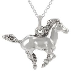 @Overstock - Add to your personal style with this sterling silver horse jewelry  Pendant features a running horse design with a high polish finish   Simple yet elegant necklace makes the perfect gifthttp://www.overstock.com/Jewelry-Watches/Tressa-Sterling-Silver-Running-Horse-Necklace/3250633/product.html?CID=214117 $29.99