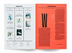 The Eye — Alex Hunting Studio Table Of Contents Magazine, Magazine Table, Book And Magazine, Graphic Design Resume, Graphic Design Layouts, Table Of Contents Design, Design Table, Fast Company Magazine, Grid