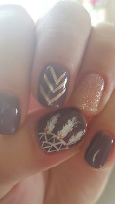 Fall nails- shellac, dream catcher. Are you looking for autumn fall nail colors design for this autumn? See our collection full of cute autumn fall nail matte colors design ideas and get inspired!