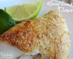 Freezer Meal Recipes: Skillet Honey Lime Tilapia