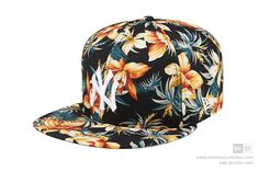 New Era 59Fifty New York Yankees Tropical Black Fitted Baseball Cap 100%  Cotton  NewEra fff3927057c0