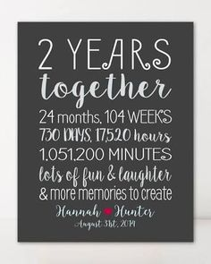 Image result for anniversary gifts for him 2 years