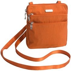 Women's Cross-Body Handbags - Baggallini Zipper Crossbody Bag Papaya * Want additional info? Click on the image.