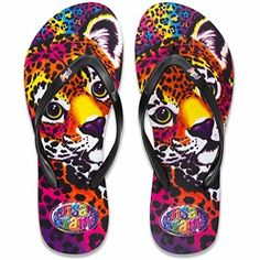Lisa Frank Flip Flop with Authentic Lisa Frank Prints: Hit the beach in style this summer with these adorable Lisa Frank flip flops! These flip flops are perfect the Lisa Frank fan, no matter what age! Best Flip Flops, Flip Flop Shoes, Lisa Frank Clothing, Comfortable Flip Flops, Luxury Shoes, Beaded Flowers, My Style, 90s Stuff, Slippers