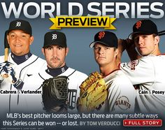 World Series Preview: Detroit #Tigers' Cabrera & Verlander take on #SFGiants' Cain & Posey for #Game1 of the World Series