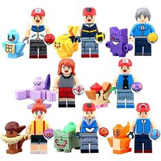 8PCS Pokemon go Mini figures PIKACHU Building Blocks Brick Toys Gift IEGO by HFS(TM) – Pokemon Toys