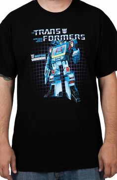 Soundwave Shirt: 80s Cartoons Transformers, Decepticons, Soundwave Tee - Size 3XL