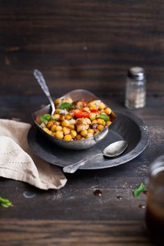Sinfully Spicy- Warm Chickpea Chaat/Indian Salad 001